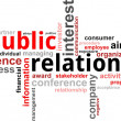 Word cloud - public relations - Vettoriali Stock