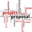 Word cloud - project proposal — Vettoriale Stock #19730767