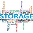 Word cloud - storage - Stock Vector