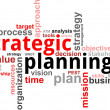 Stock Vector: Word cloud - strategic planning