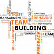 Stock Vector: Word cloud - team building
