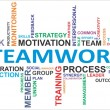 Stock Vector: Word cloud - teamwork