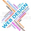 Stock vektor: Word cloud - web design