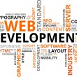 Word cloud - web development - Stock Vector