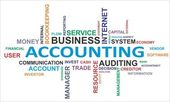 Word cloud - accounting — Stock Vector