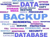 Word cloud - backup — Stockvector