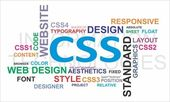 Word cloud - css — Stock Vector