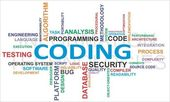 Word cloud - coding — Stockvector