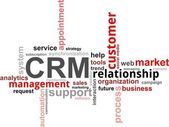 Word cloud - CRM — Stockvector
