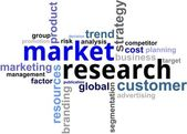 Word cloud - market research — Stock Vector