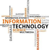 Word cloud - informatietechnologie — Stockvector