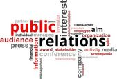 Word cloud - public relations — Stockvector