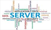 Word cloud - server — Stockvector