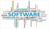 Word cloud - software — Stockvector