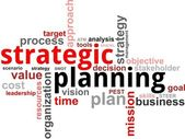 Word cloud - strategic planning — Stockvector
