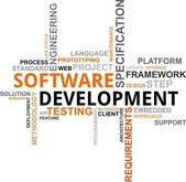 Word cloud - software development — Stockvector
