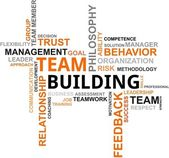 Word cloud - team building — Stockvector