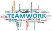 Word cloud - teamwerk — Stockvector