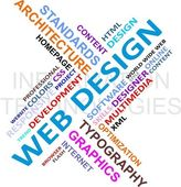 Word cloud - web design — Stockvector