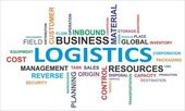 Word cloud - logistics — Stockvector