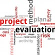 Word cloud - project evaluation — Stock Vector