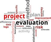 Word cloud - project evaluation — Vector de stock