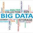 Stock Vector: Word cloud - big data