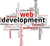 Word cloud - web development — Stock Vector