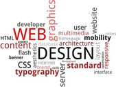Word cloud - webdesign — Stockvector