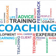 Stock Vector: Word cloud - coaching