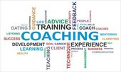 La palabra nube - coaching — Vector de stock