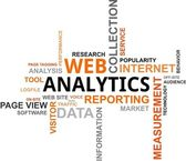 Word cloud - web analytics — Stock Vector