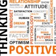 Vector de stock : Word cloud - positive thinking