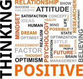 Word cloud - positive thinking — Stockvector