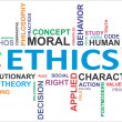 Stock Vector: Word cloud - ethics