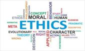 Word cloud - ethics — Stock Vector