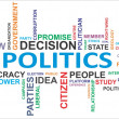 Word cloud - politics — Stock Vector