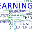 Stock Vector: Word cloud - learning