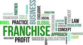Word cloud - franchise — Stockvector