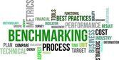 Schlagwortwolke - benchmarking — Stockvektor