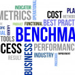 Stock Vector: Word cloud - benchmarking