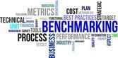 Word cloud - benchmarking — Stock Vector