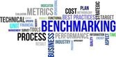 Word cloud - benchmarking — Stockvektor