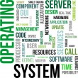 Word cloud - operating system — Imagen vectorial