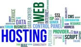 Word cloud - web hosting — Stockvector
