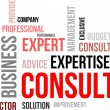 Word Cloud - Consulting - Imagen vectorial