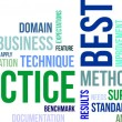 Stock Vector: Word cloud - best practice