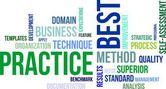 Word cloud - best practice — Stock Vector
