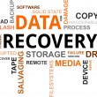 Word cloud - data recovery — Stock Vector