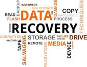 Word cloud - data recovery — Stock vektor